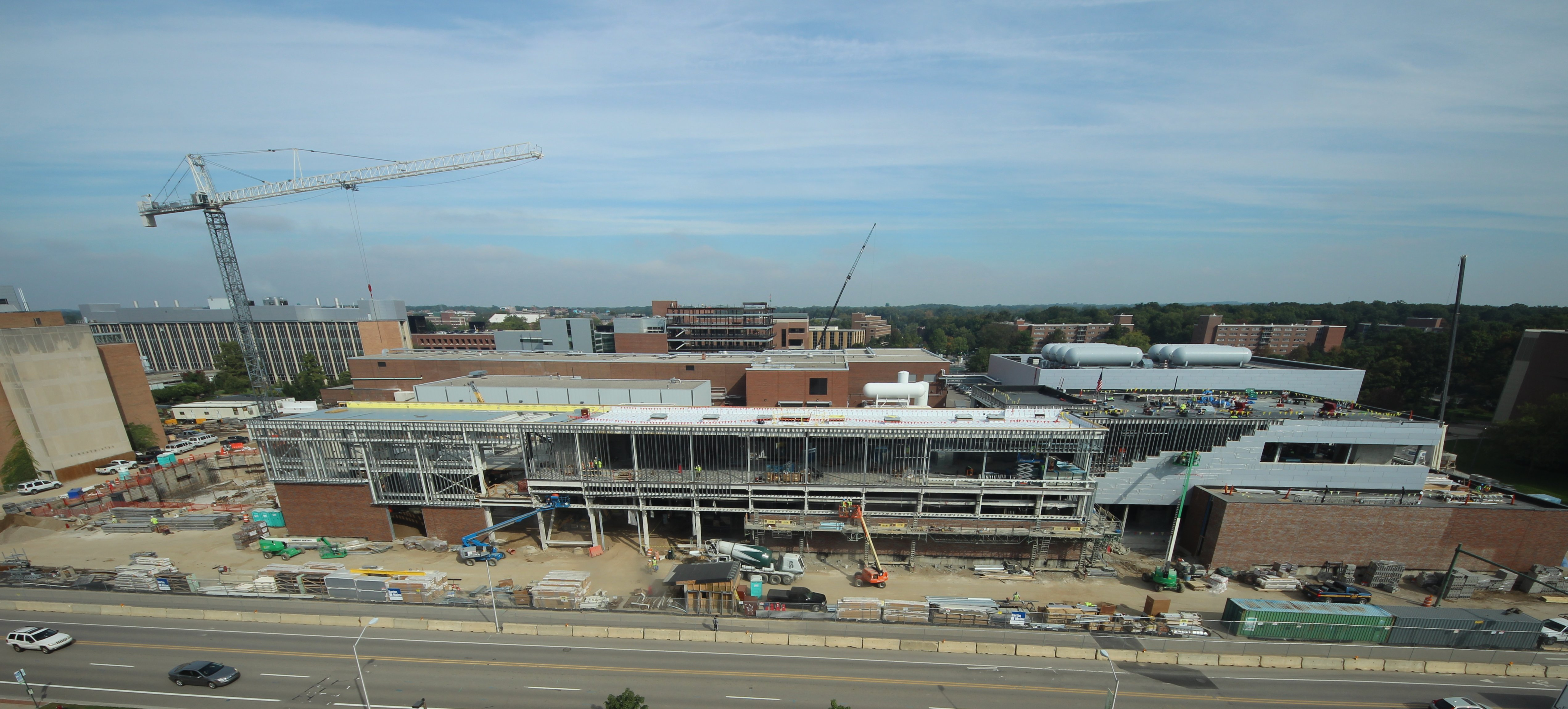 Image of FRIB's current construction